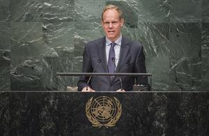 Matthew Rycroft in UN General Assembly