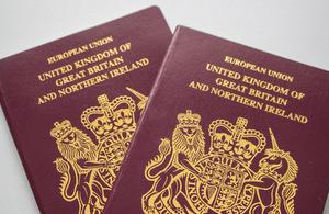 Image of UK passports.