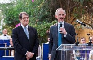 High Commissioner Matthew Kidd and H.E. President of the Republic of Cyprus, Nicos Anastasiades