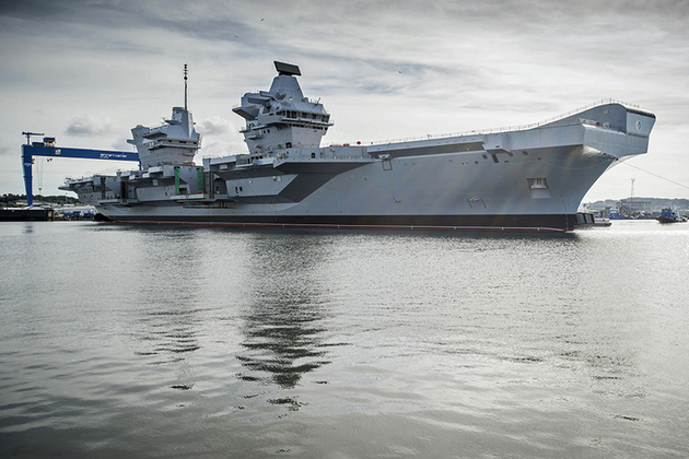 Read the 'Nation's flagship takes to sea for the first time' article