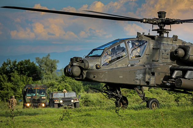 Defence Secretary Sir Michael Fallon today announced a six-year £48 million Apache helicopter training contract.