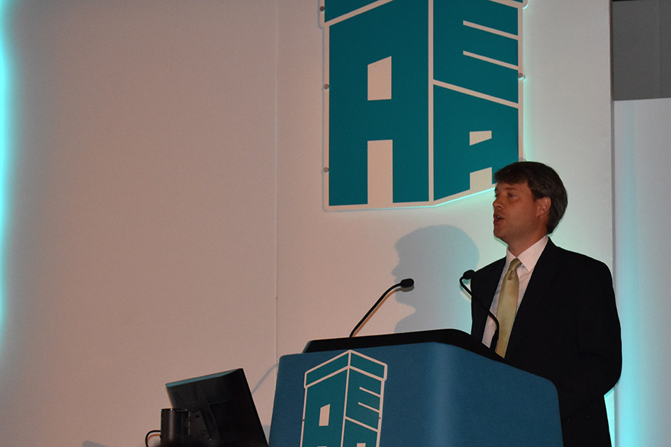 Chris Skidmore speaking at the Association of Electoral Administrators.