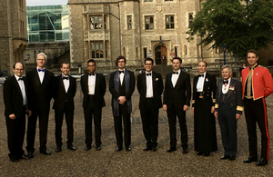 Some of the shortlisted candidates pose outside the Tower of London.