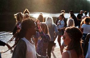 Teenagers enjoying the sun
