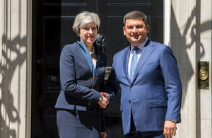 PM and Ukraine PM Volodymyr Groysman