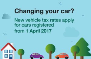 New vehicle tax rates apply for cars registered from 1 April 2017