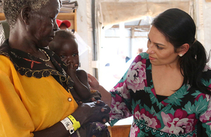 Priti Patel in South Sudan