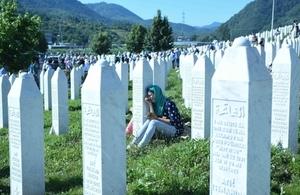 Srebrenica graveyard
