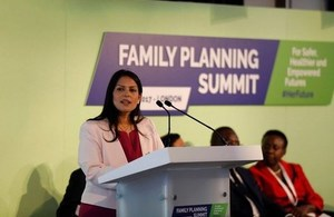 Priti Patel at the Family Planning Summit