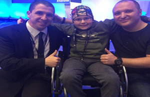 Insp Potter with Alex and his dad Jeff