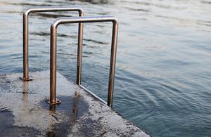 ladder on pier