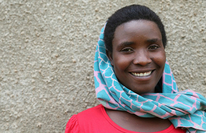 Viola, a mother of six from Uganda, is now using family planning thanks to UK aid. Picture: Sheena Ariyapala/DFID