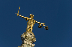 Statue of the lady justice