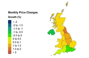 UK House price heat map average price change