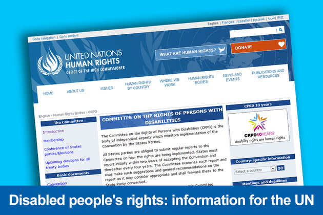 Disabled people's rights: information for the UK's first periodic review