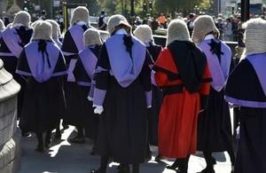 judges walking