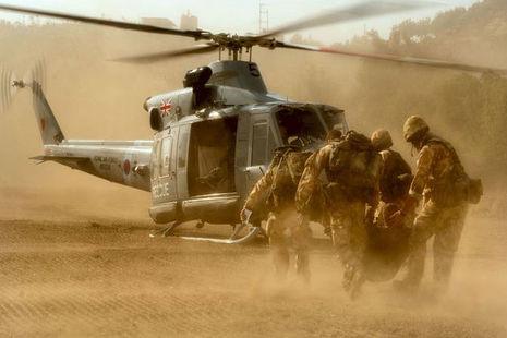 Military medic rescue