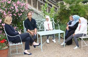 Home Secretary meets refugee family