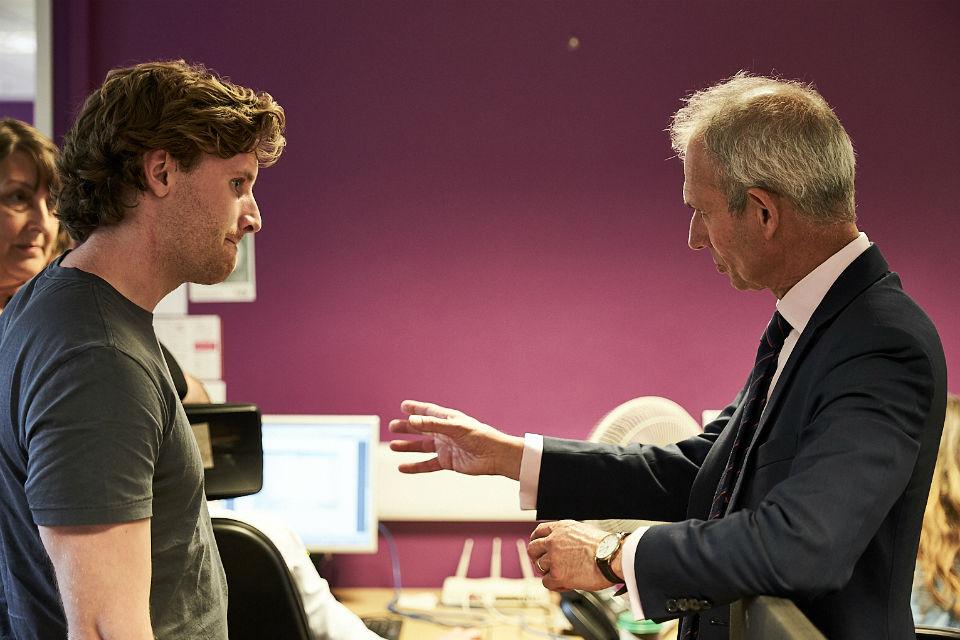 Justice Secretary David Lidington meets probation staff