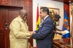 Lord Ahmad visits Ghana