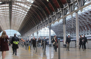 Paddington railway station.