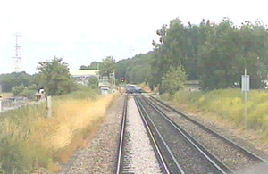 Forward facing CCTV image from the train involved (courtesy of SouthEastern)