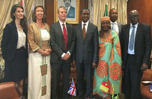 British High Commissioner Cameroon's Minister for Public Health