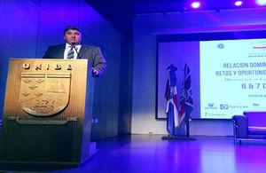 Ambassador Campbell was the keynote Speaker for the International Business Week 2017 at Universidad Iberoamericana (UNIBE)