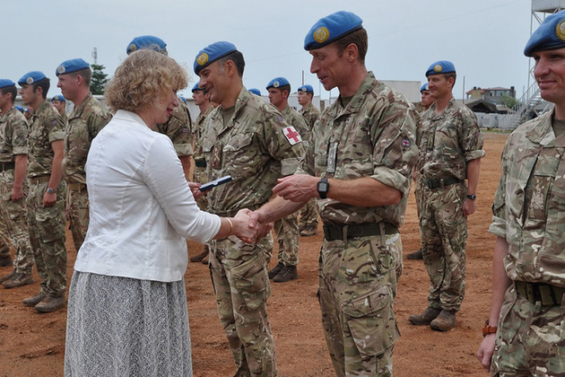 UK troops have been awarded UN medals for service in South Sudan. Crown copyright.