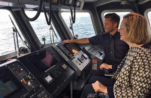 Home Secretary visits new coastal patrol vessel in Scotland