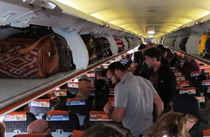 On-board plane image
