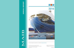 MAIB Annual Report Front Cover 2016