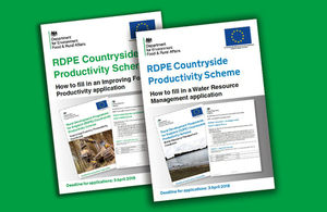 Image of RDPE Countryside Productivity Scheme documents