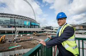 Housing Minister Alok Sharma at Wembley Park