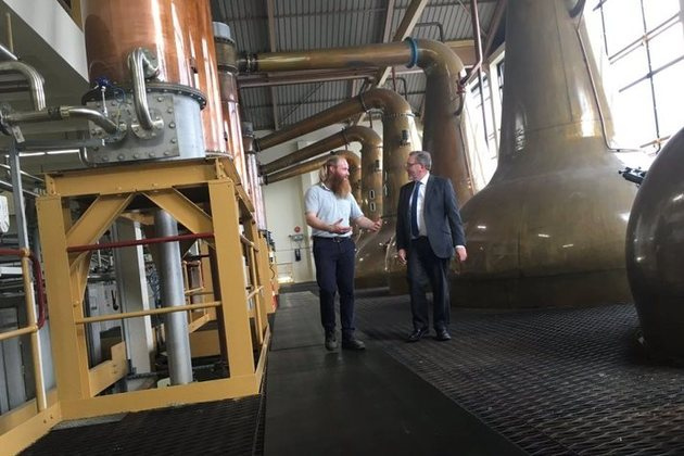 David Mundell visits Caol Ila distillery