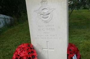 P/O Webb newly engraved headstone. Crown Copyright.  All rights reserved.