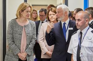 Home Secretary opens new Police Investigation Centre in Hampshire