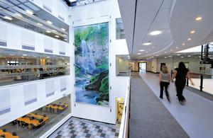 DVLA Atrium block