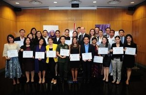 Chevening Scholars with Ambassador-designate Daniel Pruce