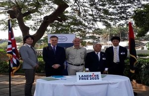 Renewed UK partnership with Japan for demining in Angola