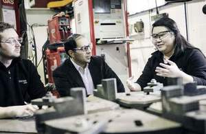 KTP associate Lydia Chan in a meeting with colleagues at Renown's manufacturing facility