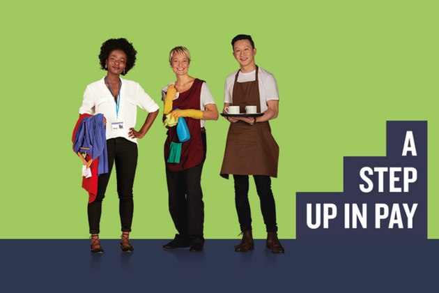A step up in pay campaign image