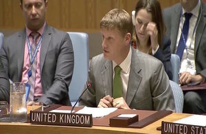 Jonathan Allen, Ambassador and DPR, at the UN Security Council
