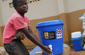 UK aid is helping deliver clean water to communities worst affected by the landslides and flooding in Freetown.