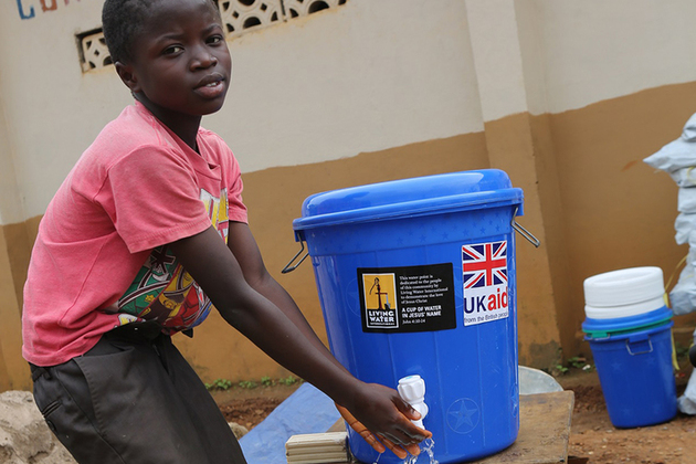 UK aid is helping deliver clean water to communities worst affected by the landslides and flooding in Freetown. Picture: UNICEF