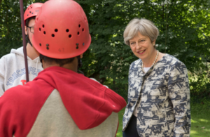 PM visited Woodlands Outdoor Education Centre, Glasbury-On-Wye Wales.