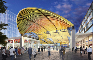 Concepts of the HS2 station at Euston