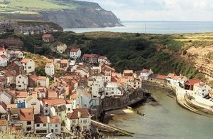 New view of Staithes from coast path