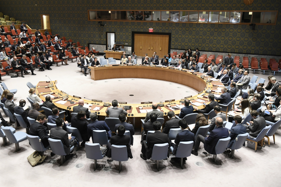 UN Security Council meeting on North Korea