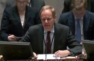 Matthew Rycroft in the UN Security Council
